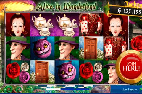 alice in wonderland slotland kolikkopeli