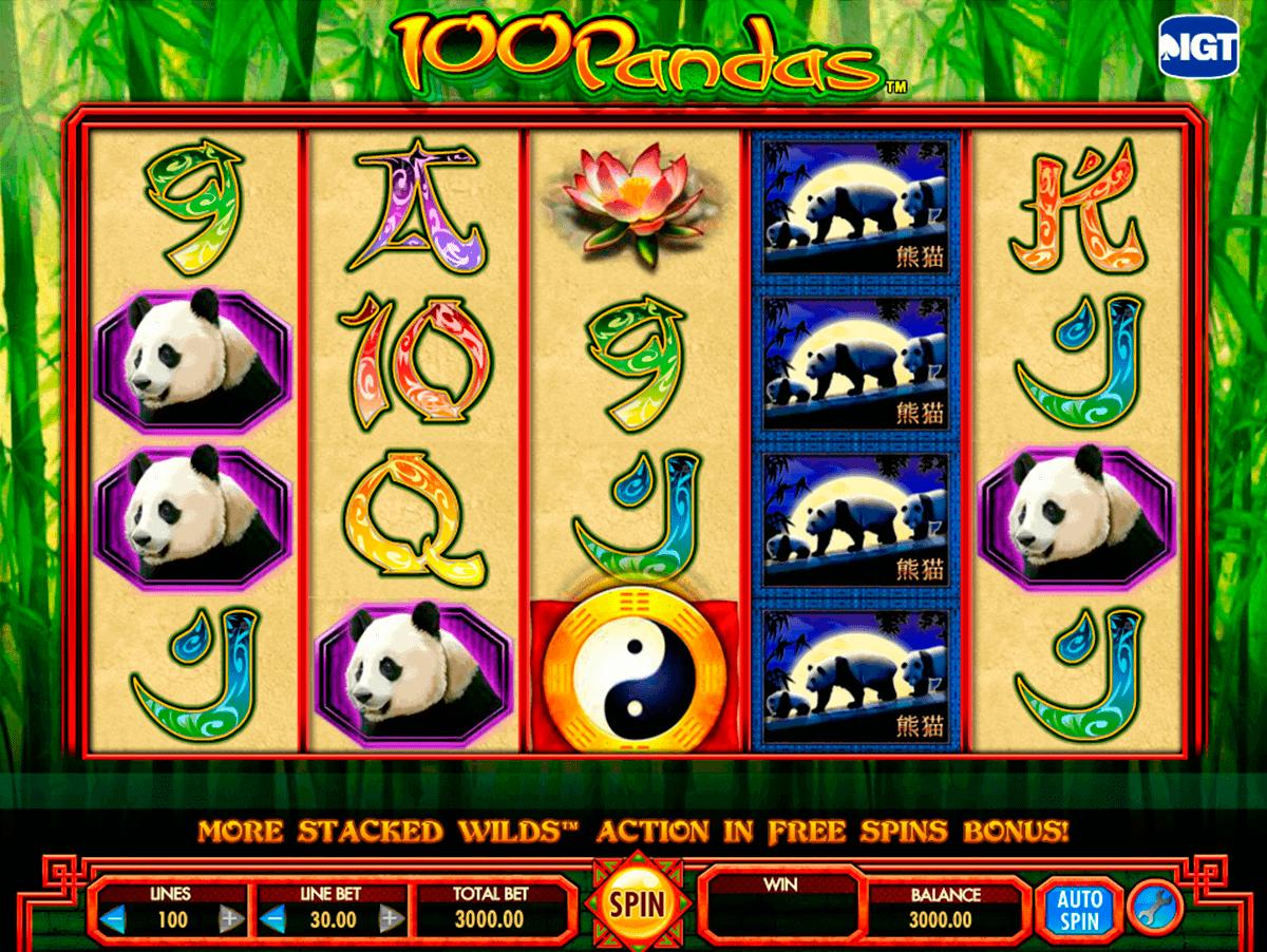 100 pandas igt kolikkopelit