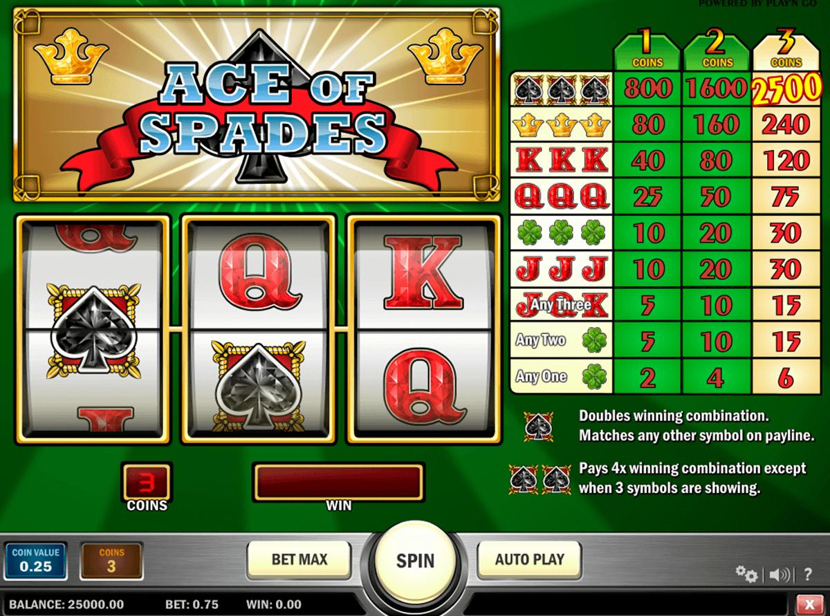 ace of spades playn go kolikkopelit