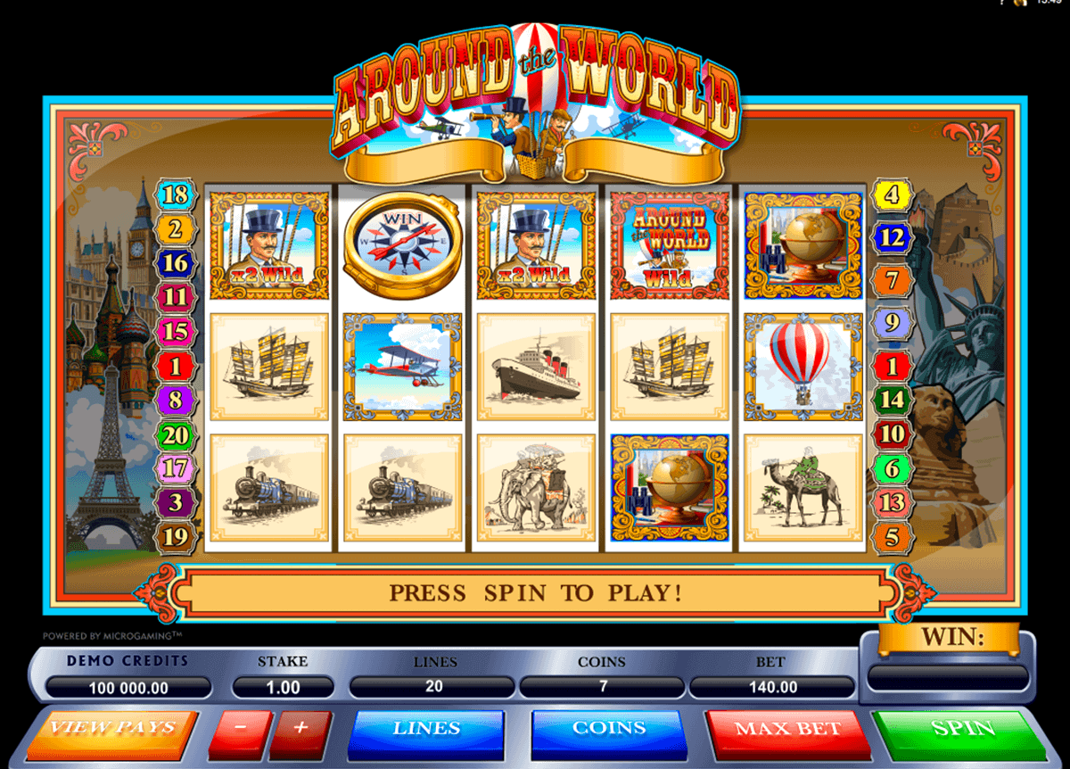 around the world microgaming kolikkopelit