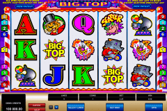 big top microgaming kolikkopelit
