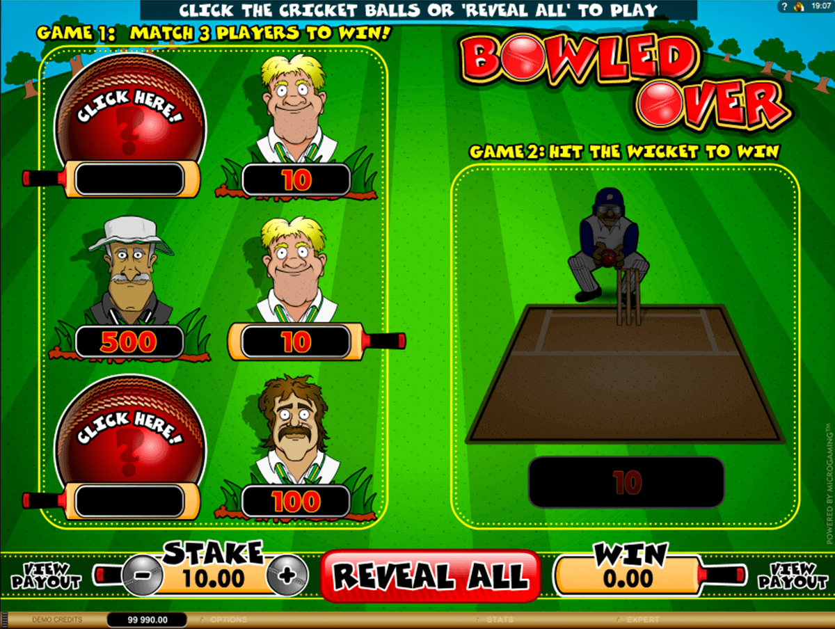bowled over microgaming raaputusarvat