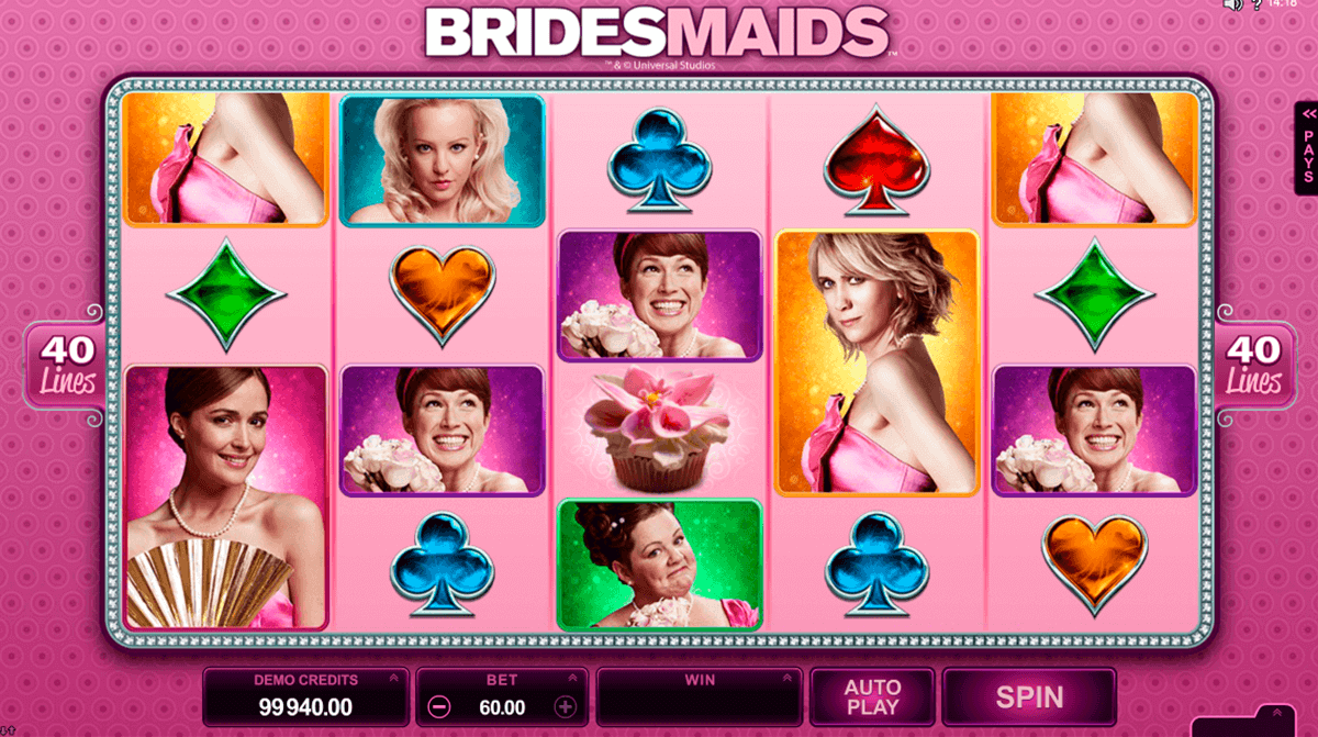bridesmaids microgaming kolikkopelit