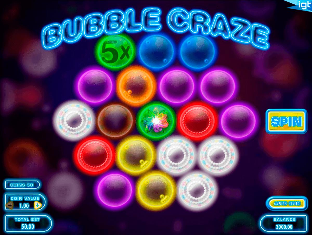 bubble craze igt kolikkopelit