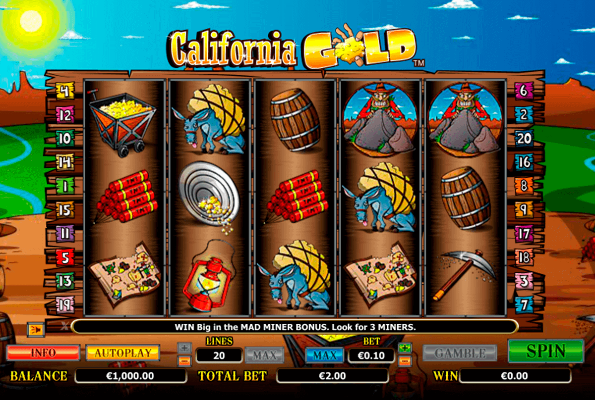 california gold netgen gaming kolikkopelit