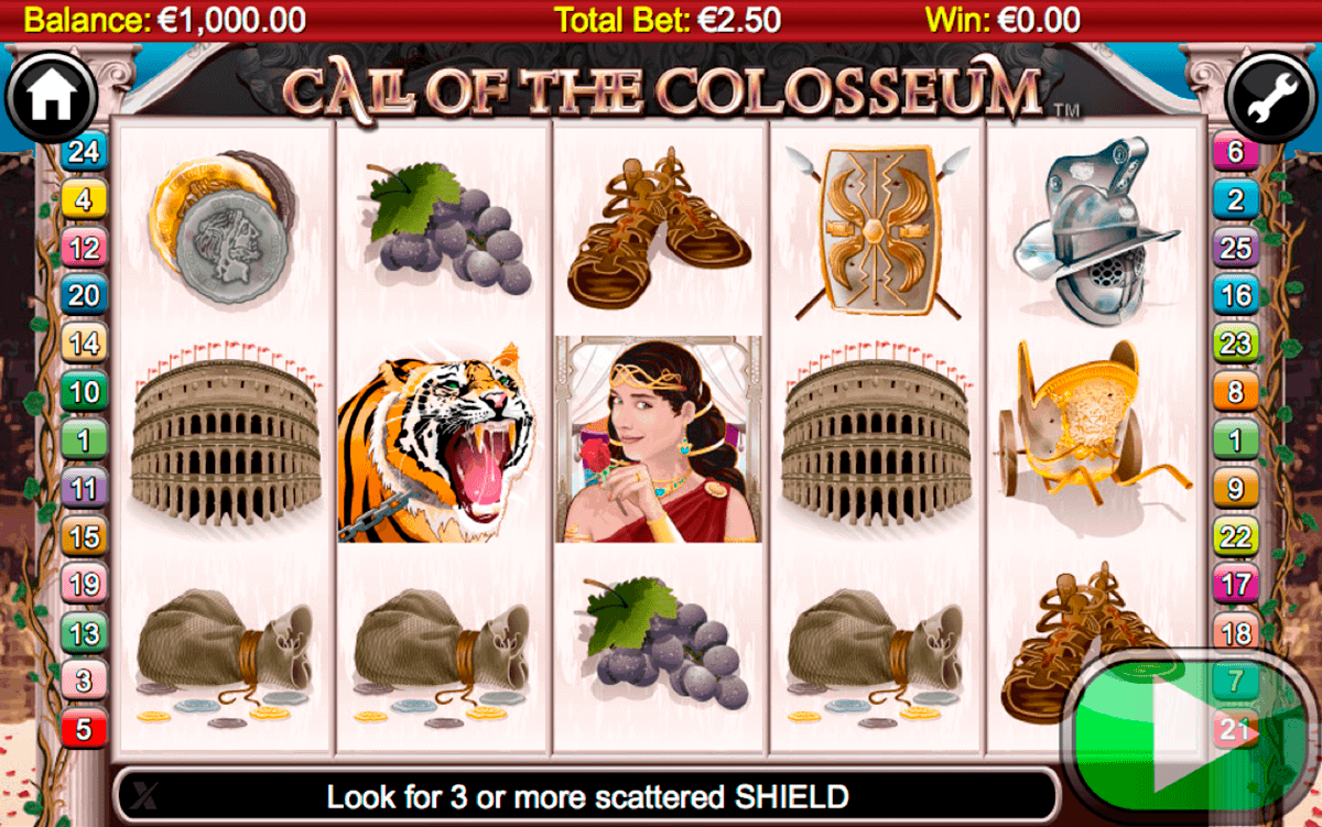 call of the colosseum netgen gaming kolikkopelit
