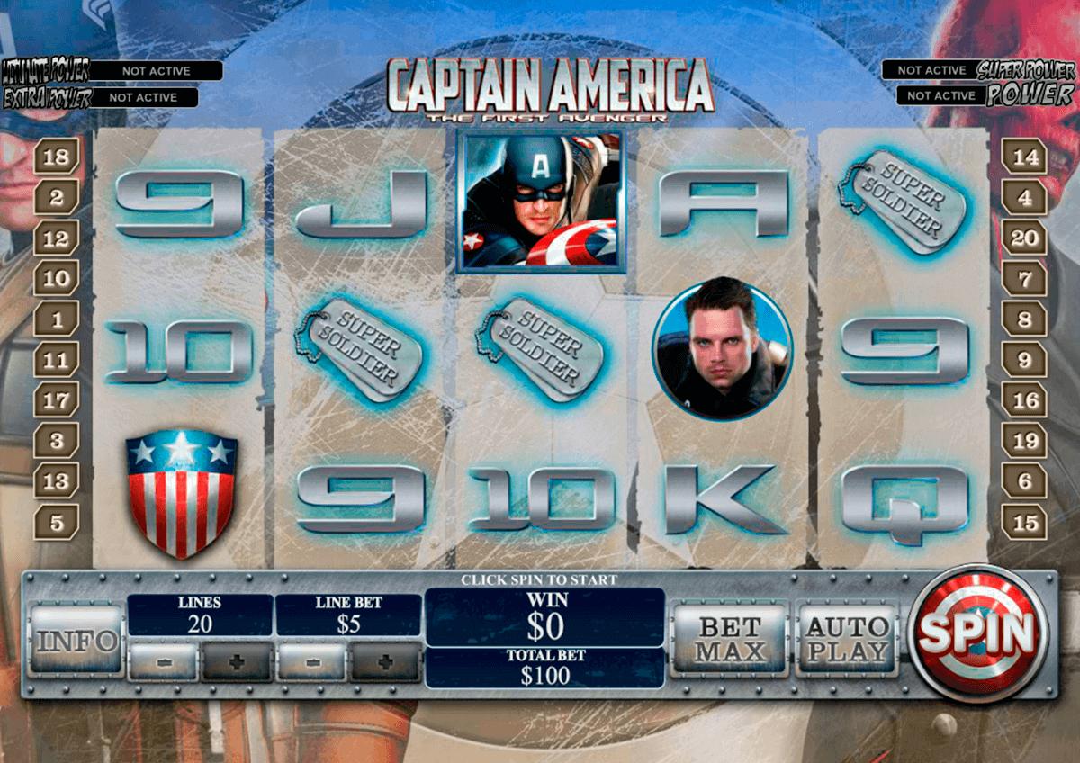 captain america playtech kolikkopelit
