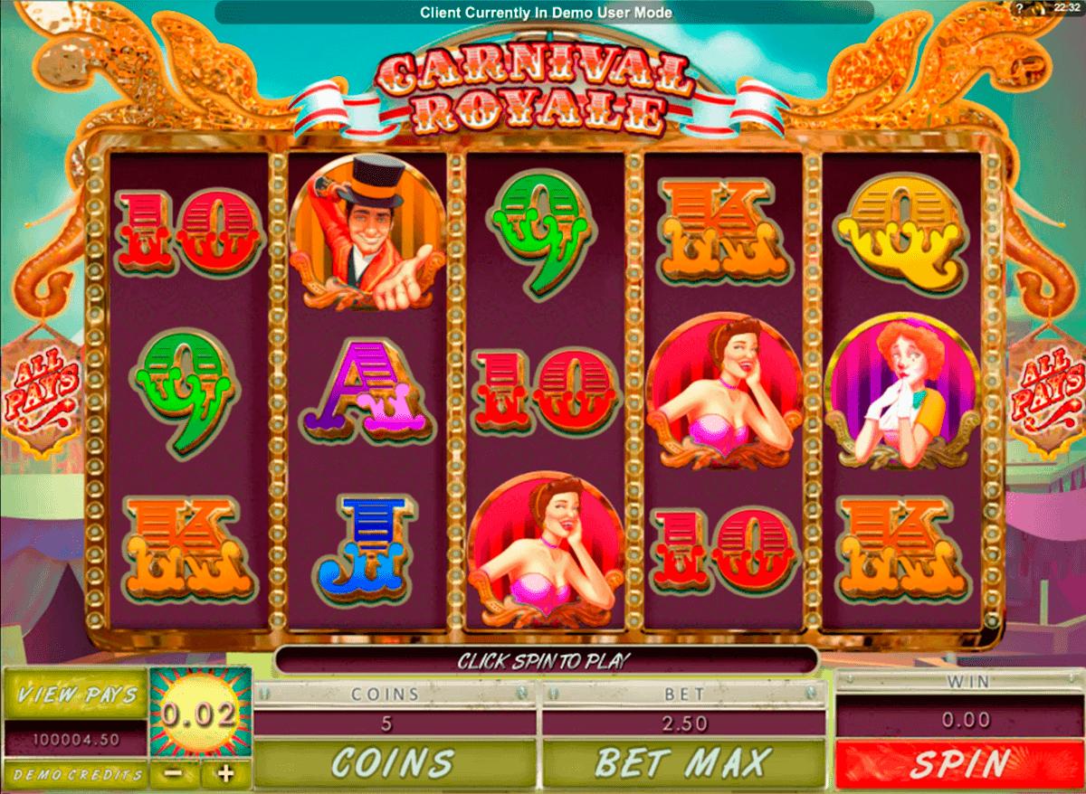 carnival royale genesis kolikkopelit