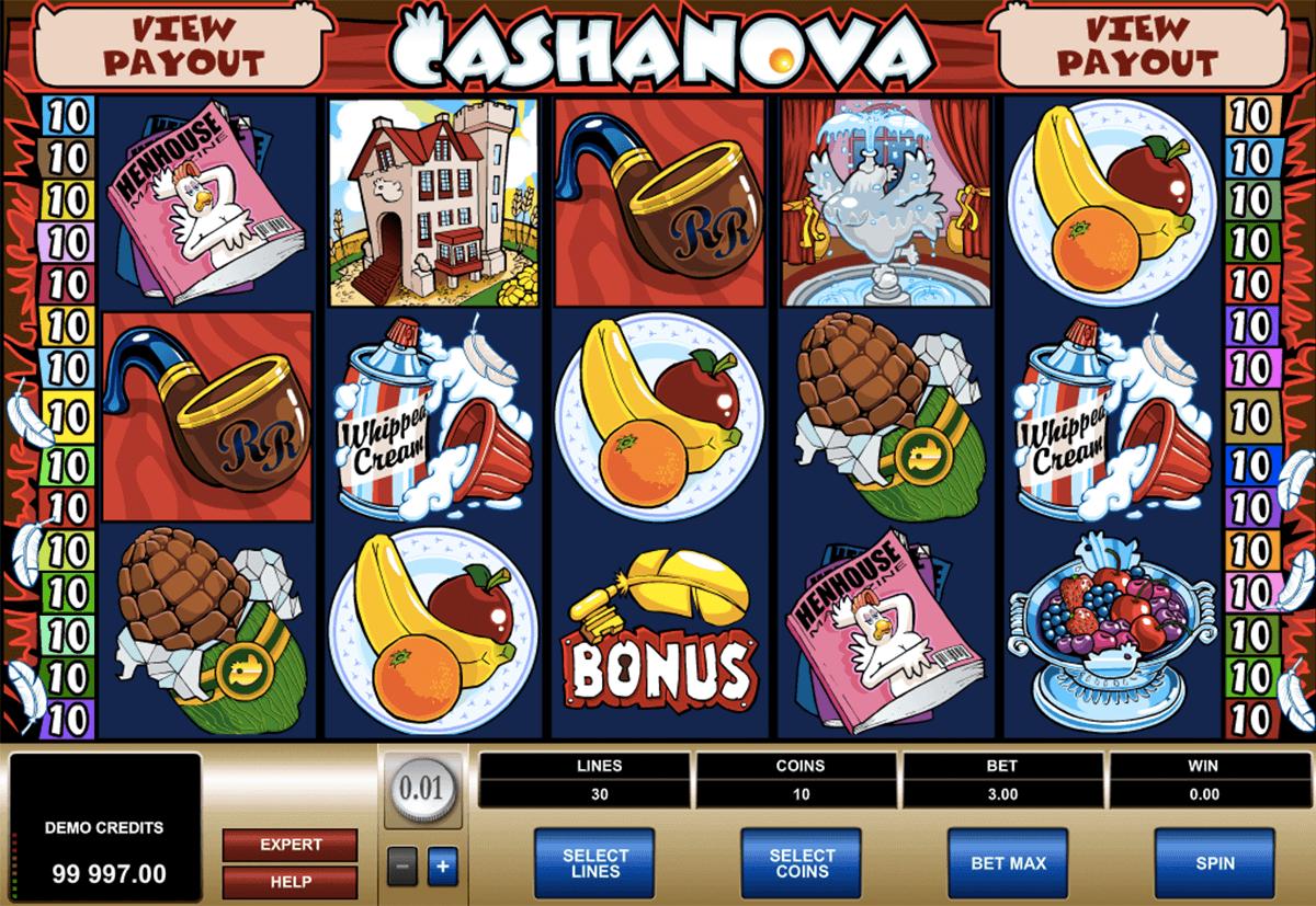 cashanova microgaming kolikkopelit