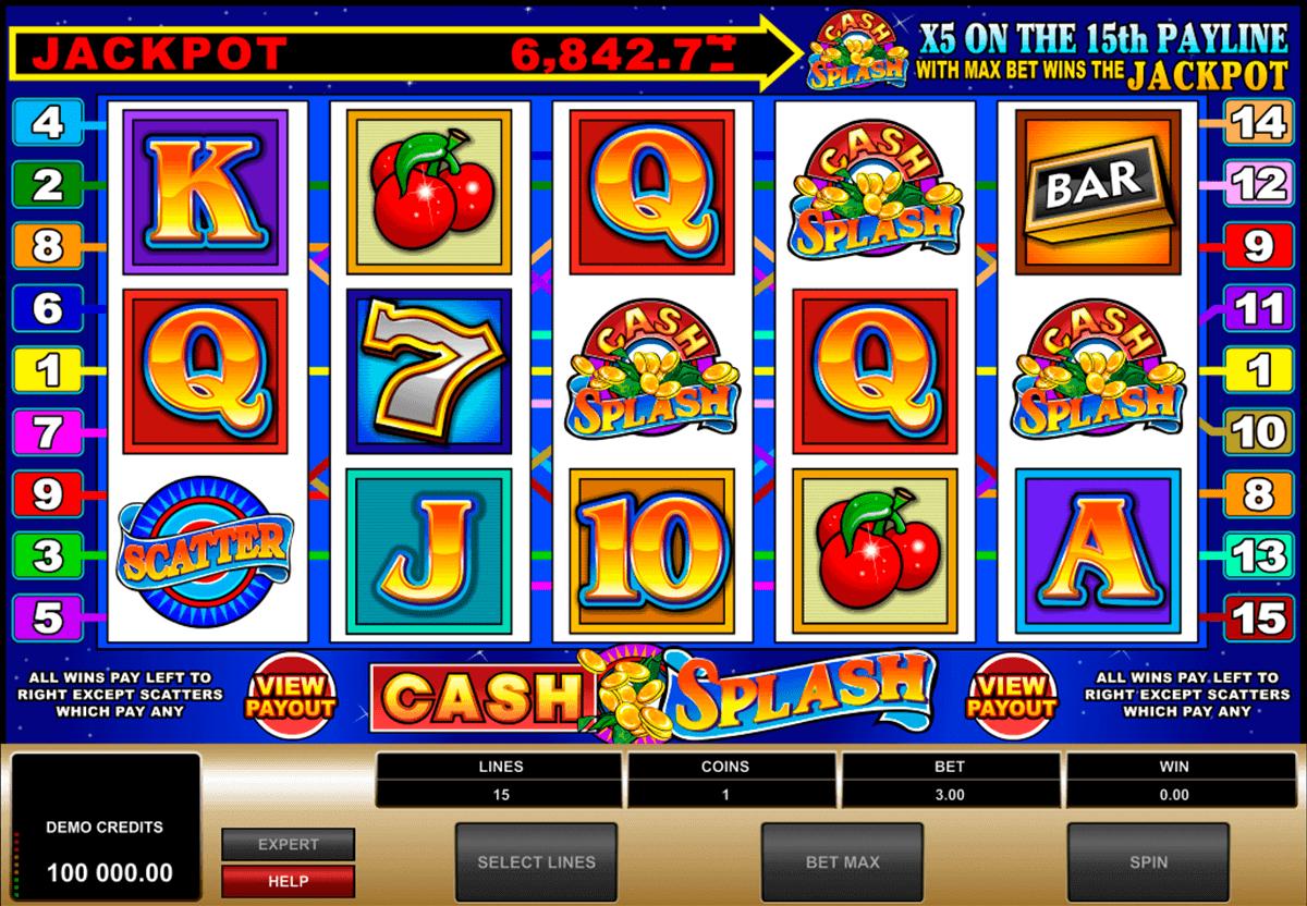 cashsplash video slot microgaming kolikkopelit