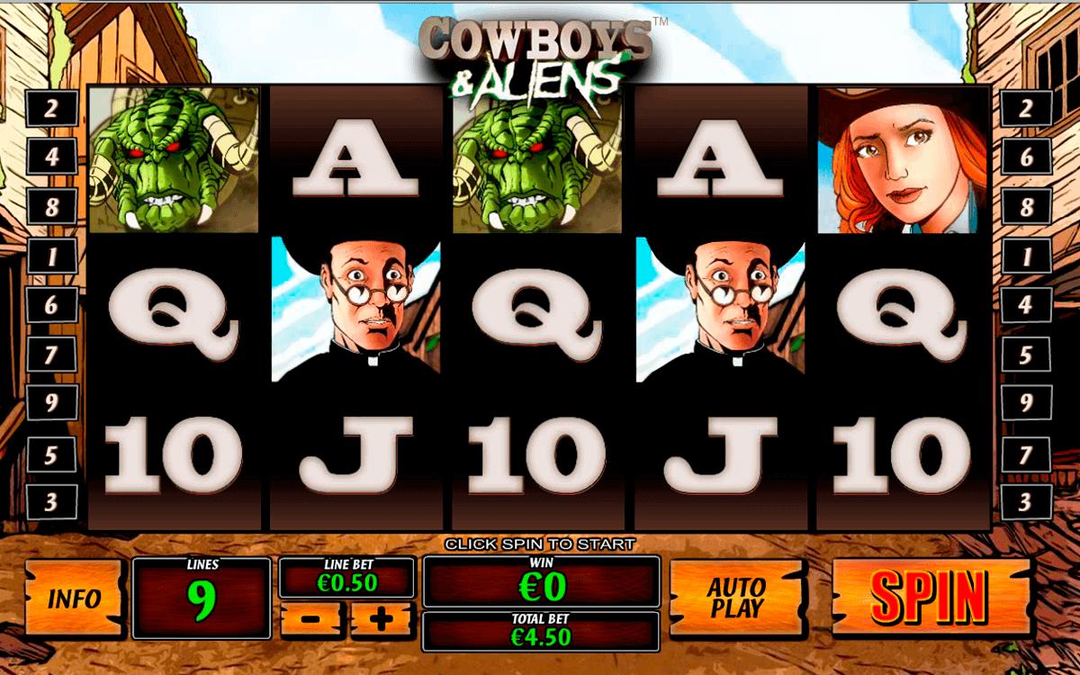 cowboys and aliens playtech kolikkopelit