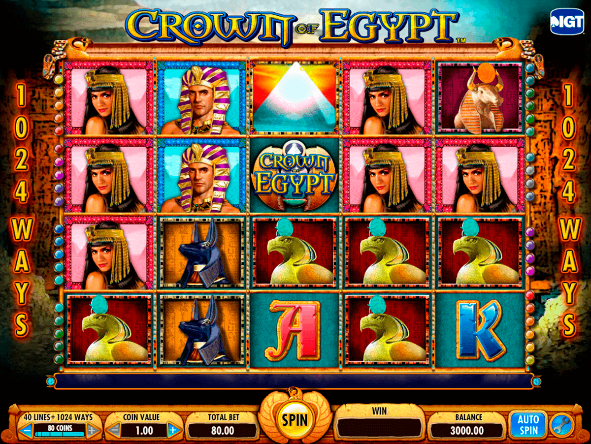crown of egypt igt kolikkopelit