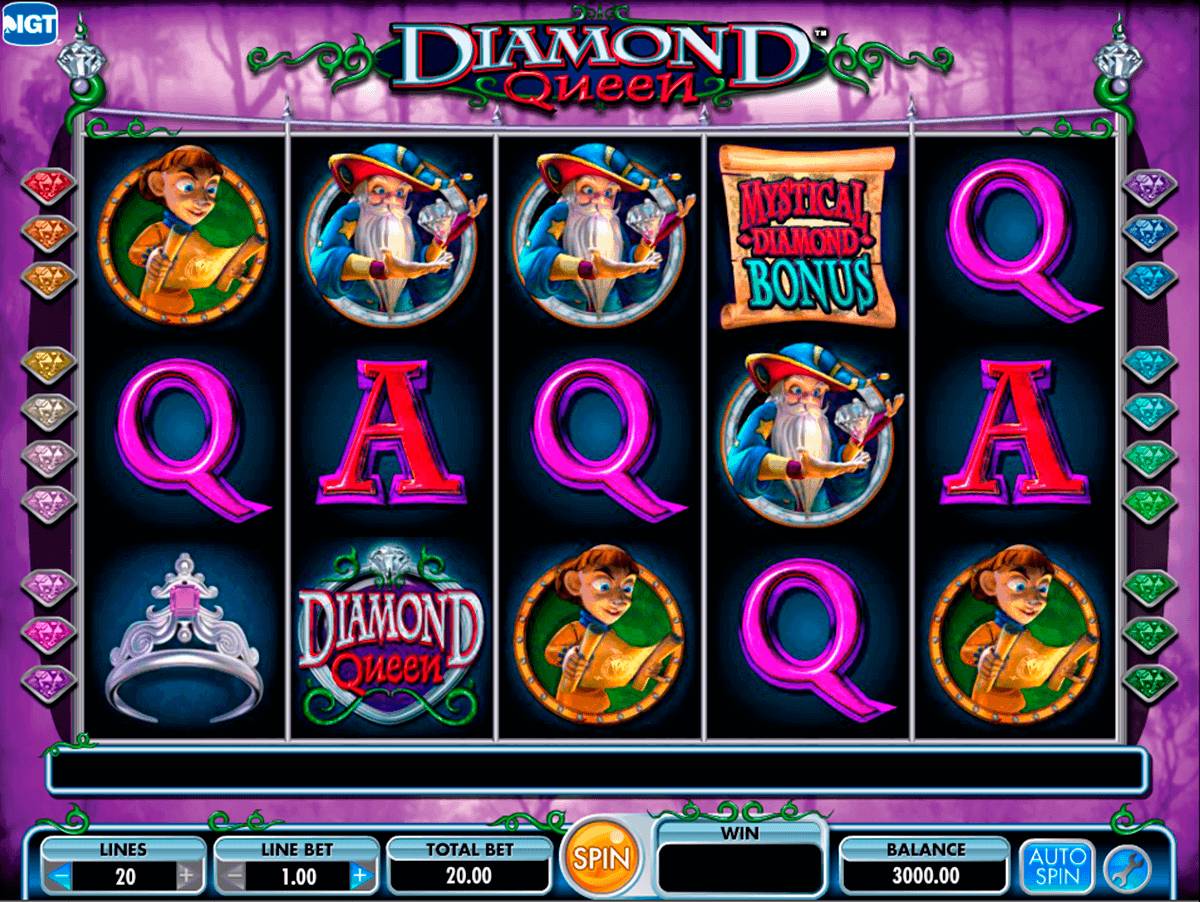 diamond queen igt kolikkopelit