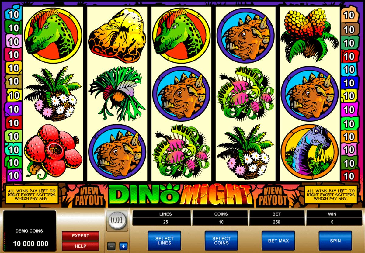 dino might microgaming kolikkopelit