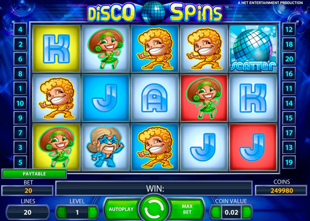 disco spins netent kolikkopelit