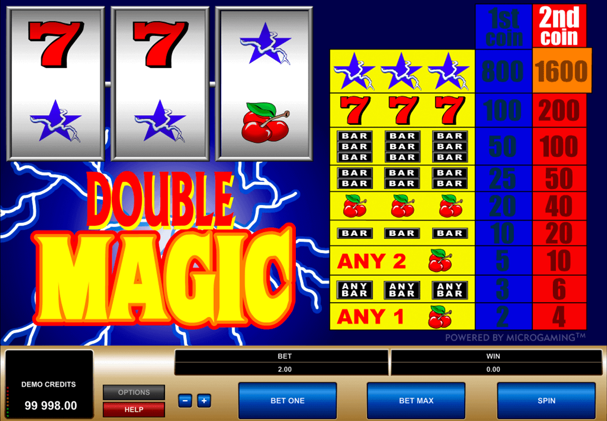 double magic microgaming kolikkopelit