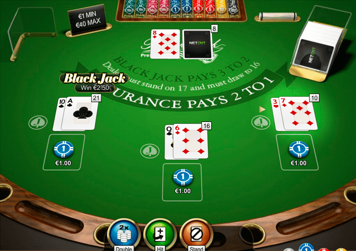 double posure blackjack professional series netent blackjack