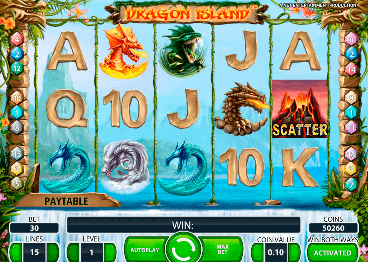 dragon island netent kolikkopelit