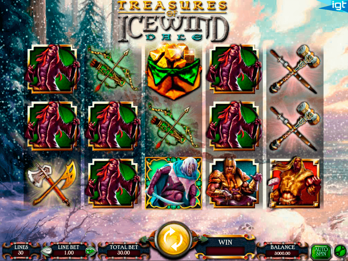 dungeons and dragons treasures of icewind dale igt kolikkopelit