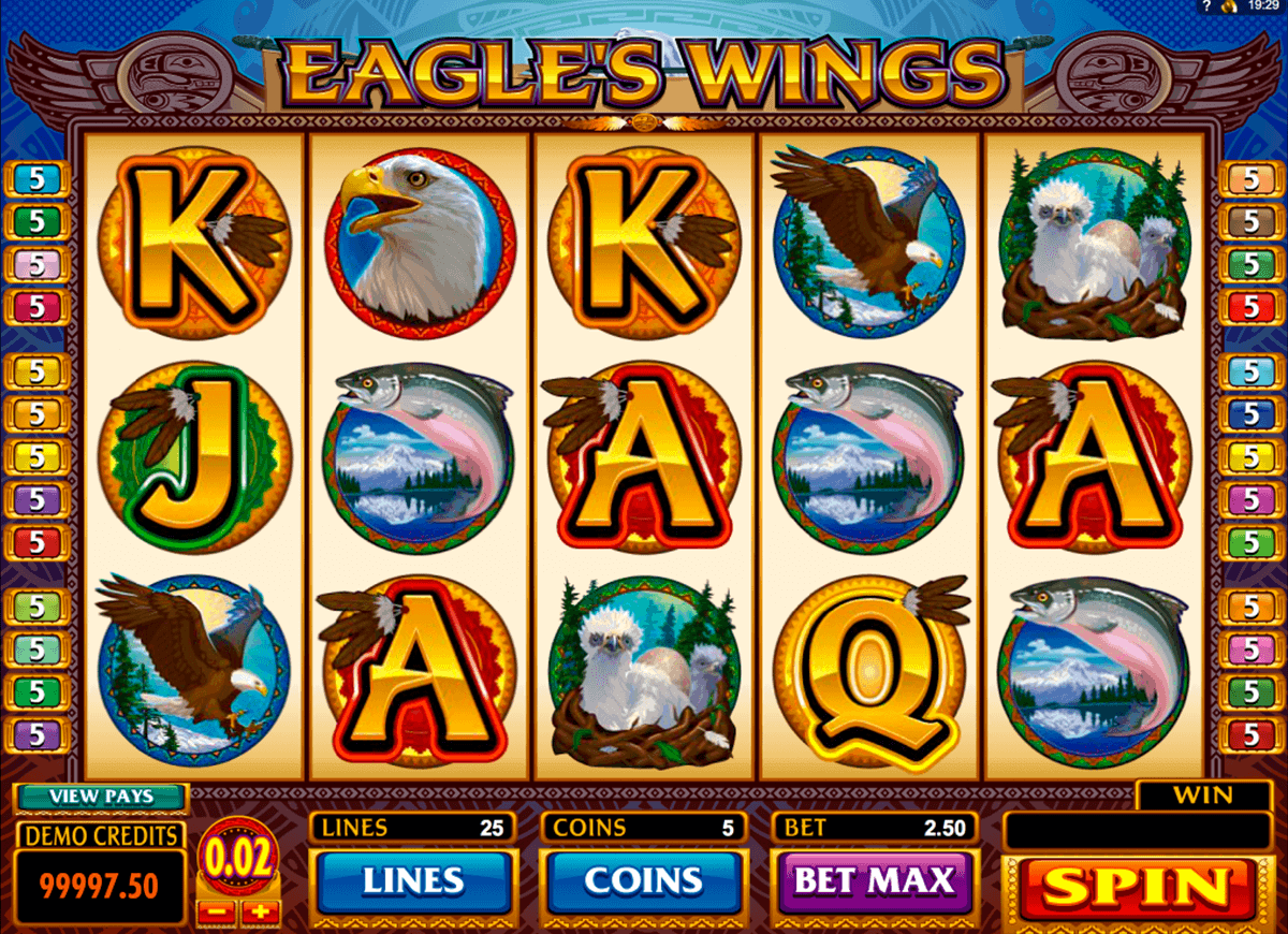 eagles wings microgaming kolikkopelit