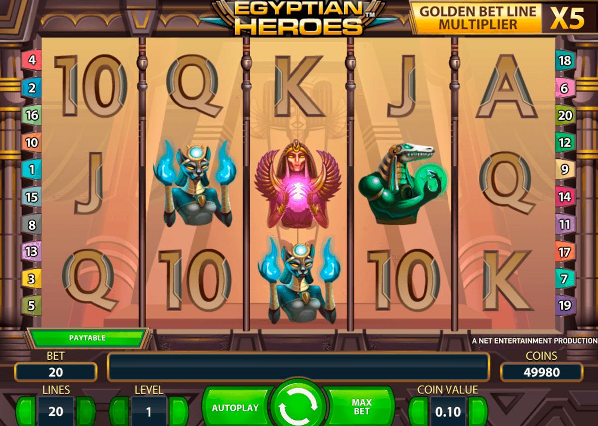 egyptian heroes netent kolikkopelit