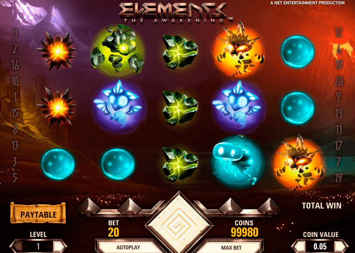 elements netent kolikkopelit