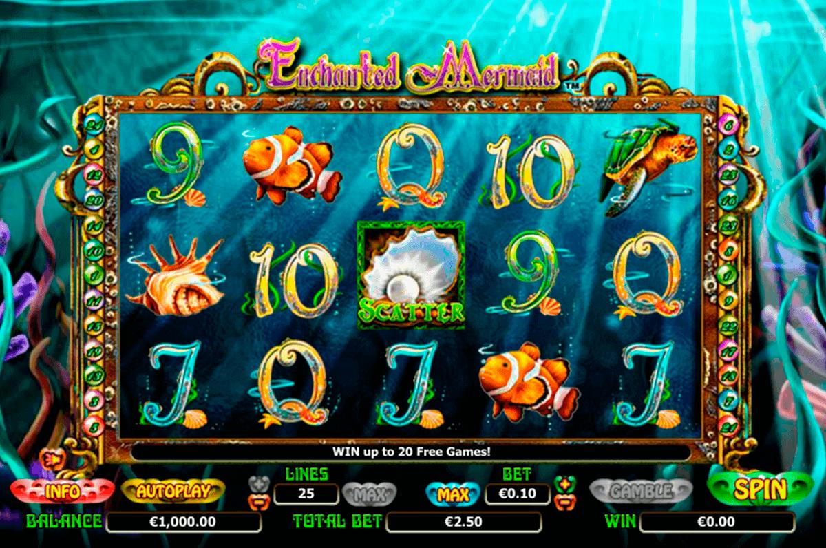 enchanted mermaid netgen gaming kolikkopelit