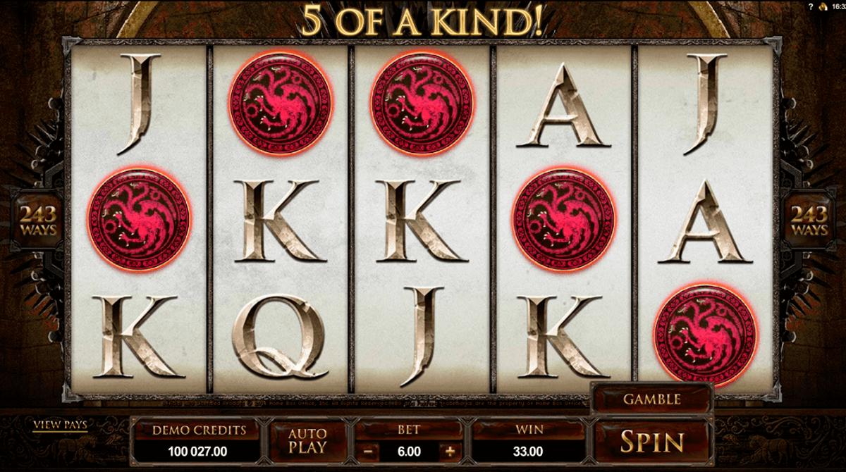 game of thrones  ways microgaming kolikkopelit