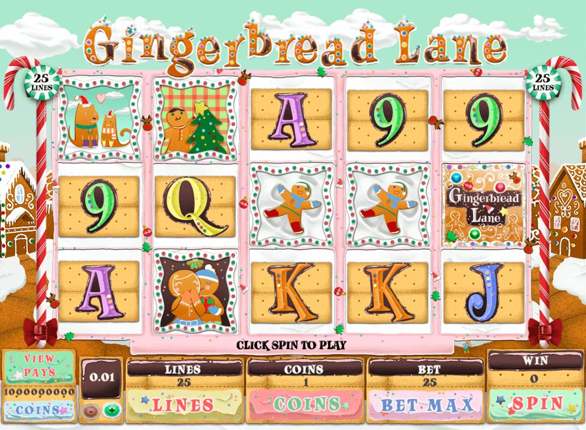 gingerbread lane genesis kolikkopelit