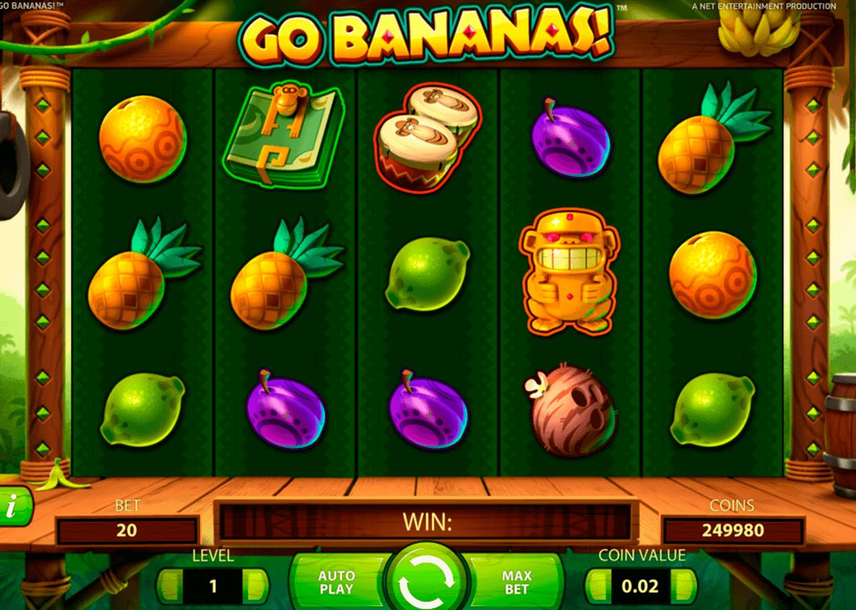 go bananas netent kolikkopelit