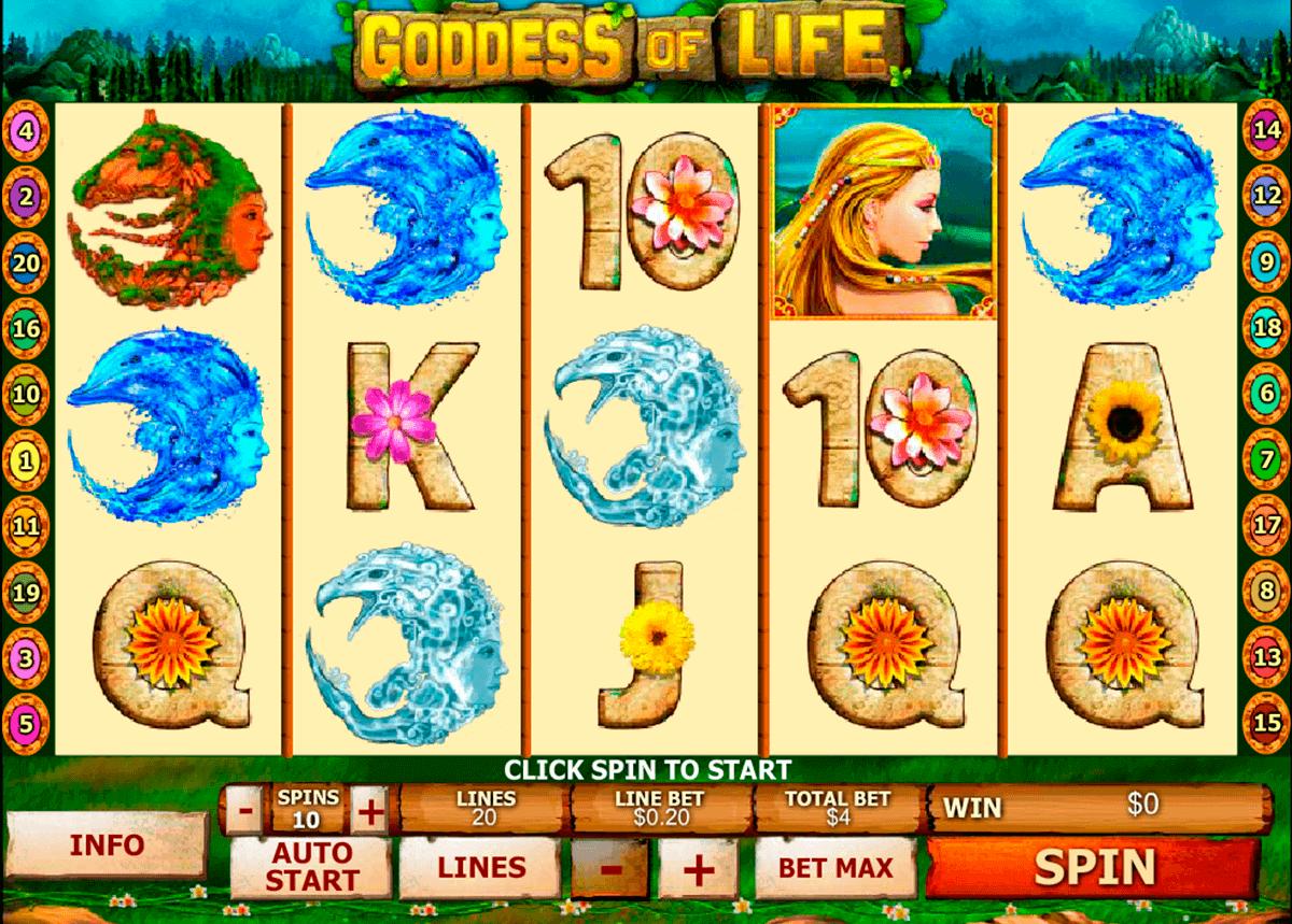 goddess of life playtech kolikkopelit
