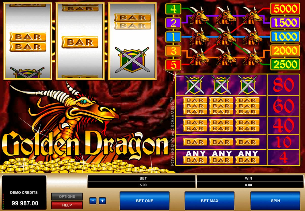 golden dragon microgaming kolikkopelit