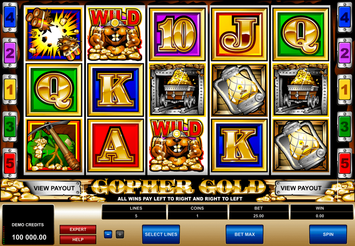 gopher gold microgaming kolikkopelit