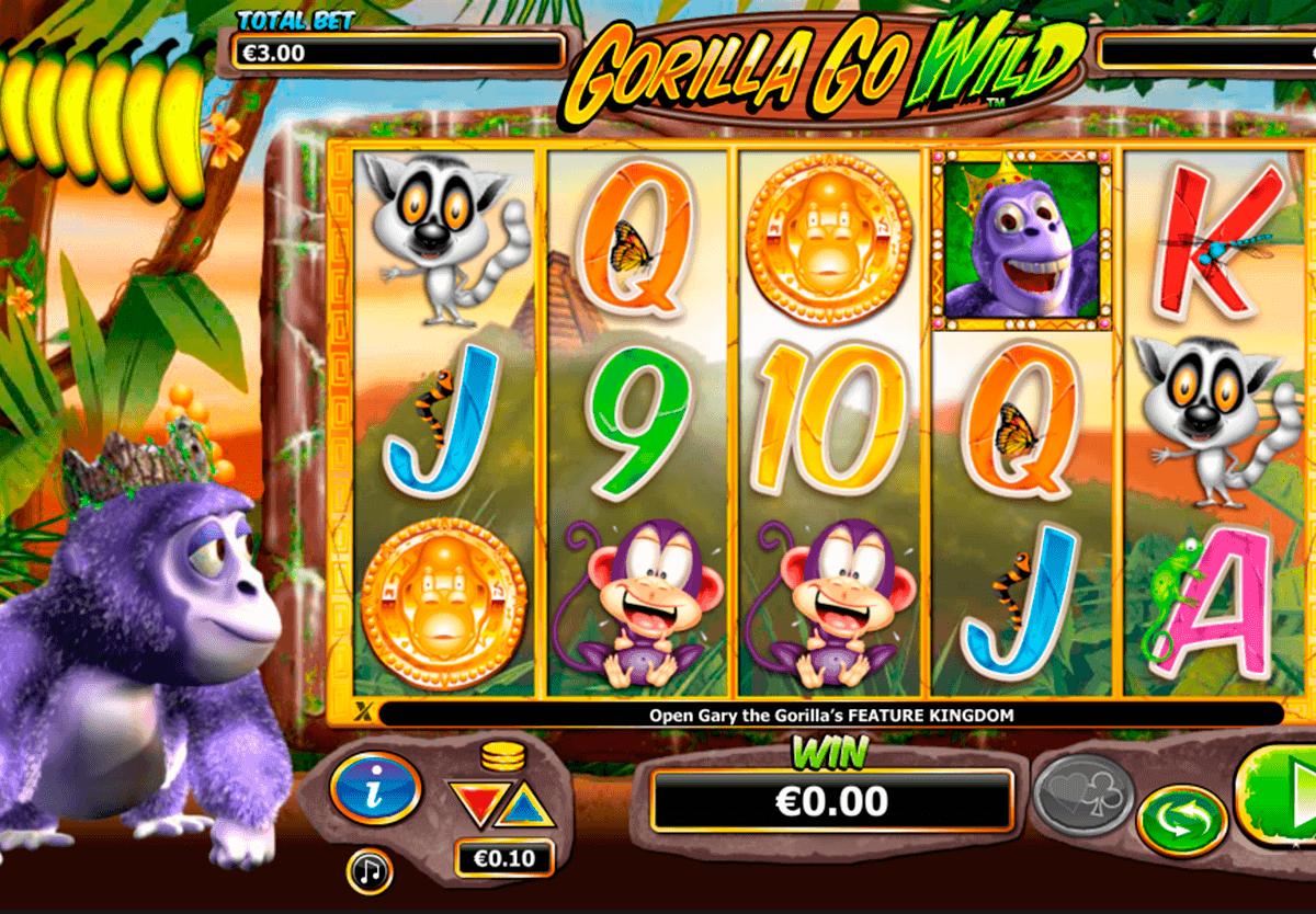 gorilla go wild netgen gaming kolikkopelit