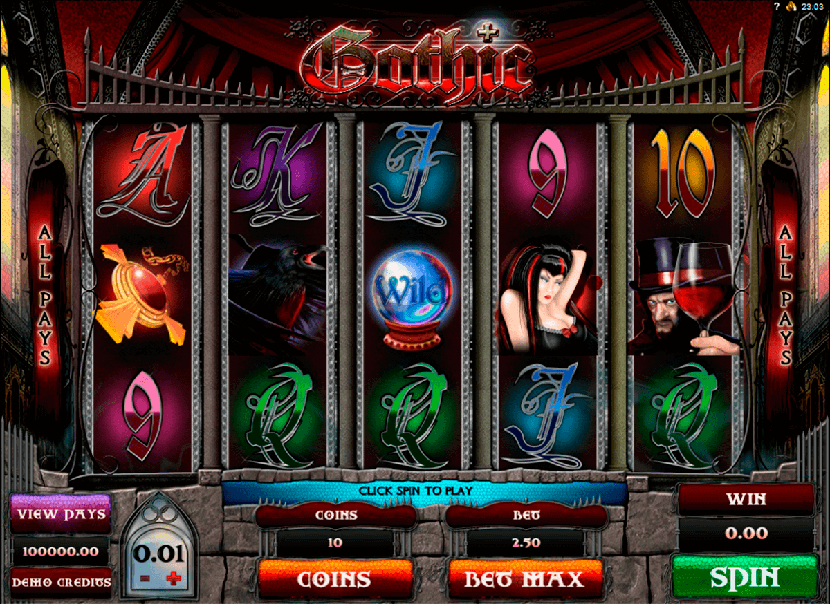gothic genesis kolikkopelit
