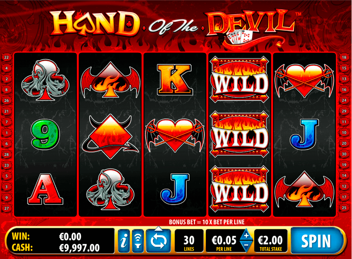 hand of the devil bally kolikkopelit