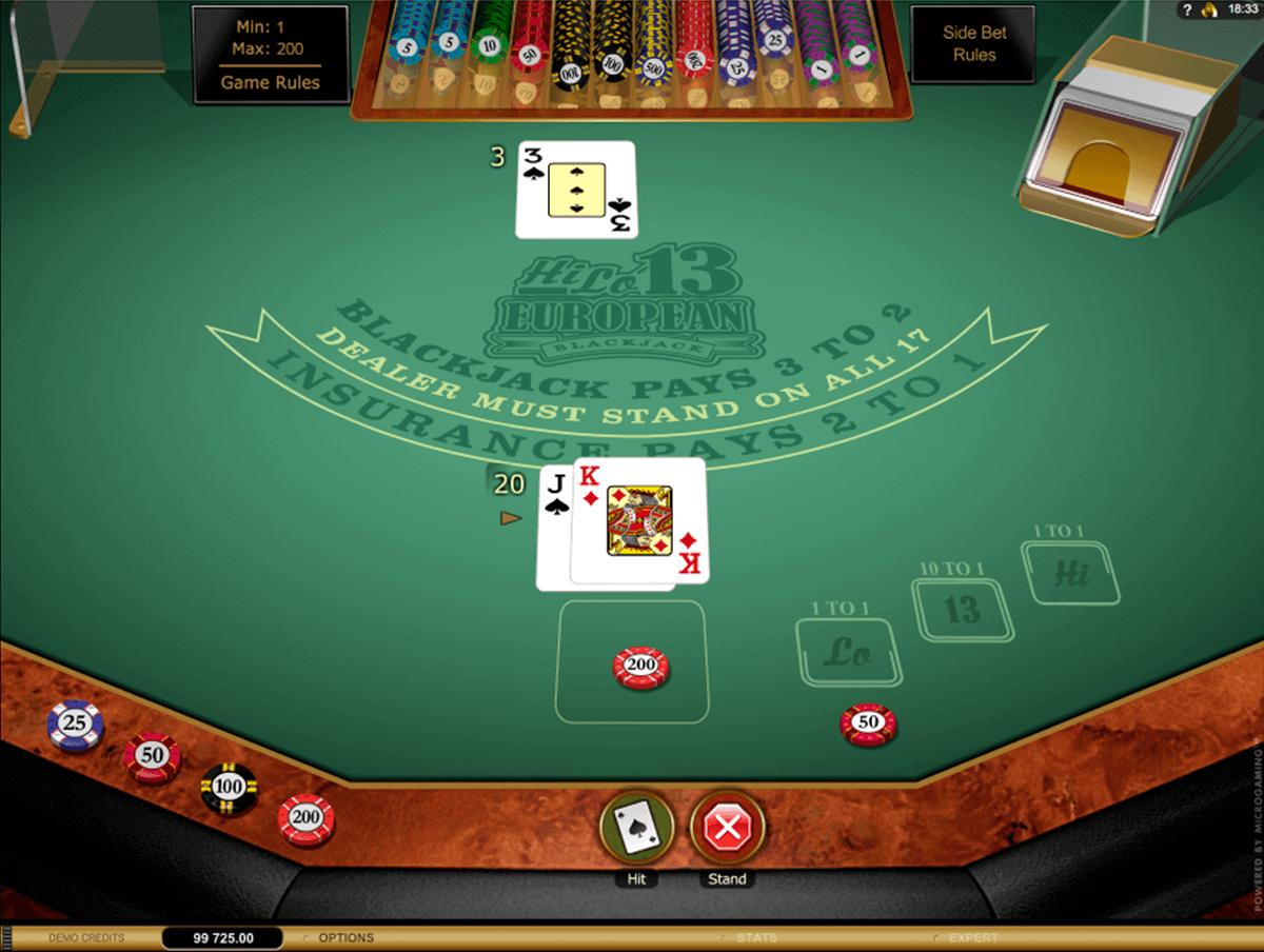hi lo european blackjack gold series microgaming blackjack