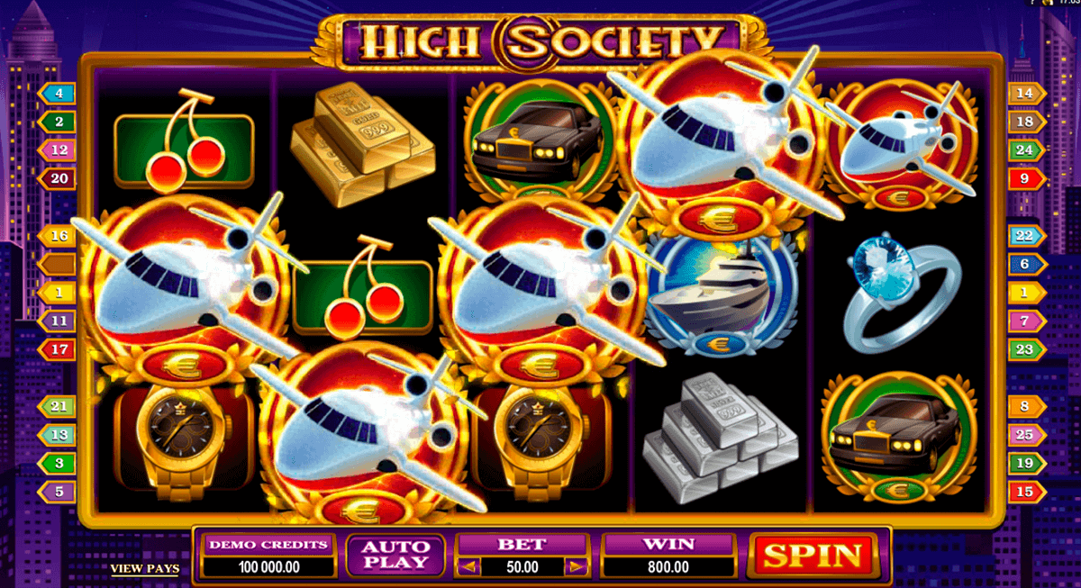 high society microgaming kolikkopelit