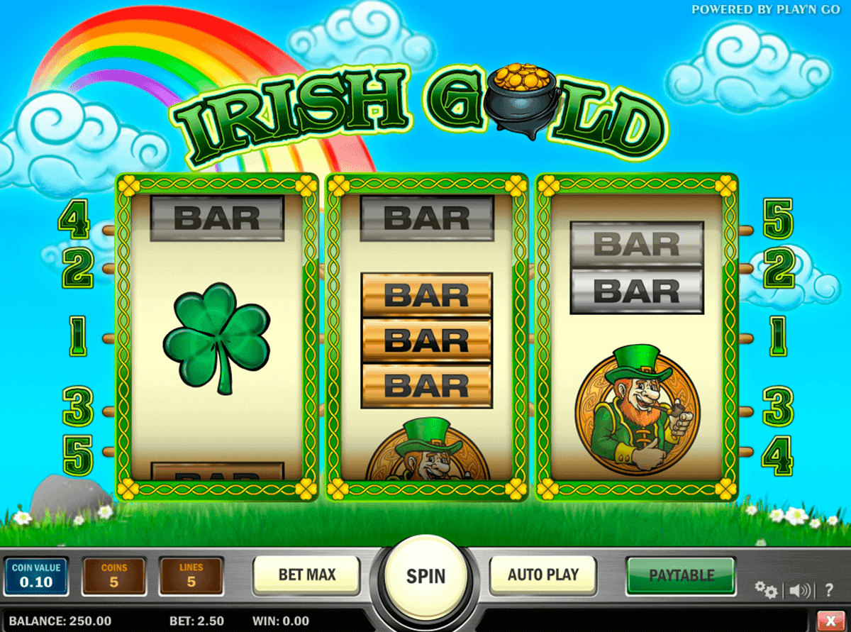 irish gold playn go kolikkopelit