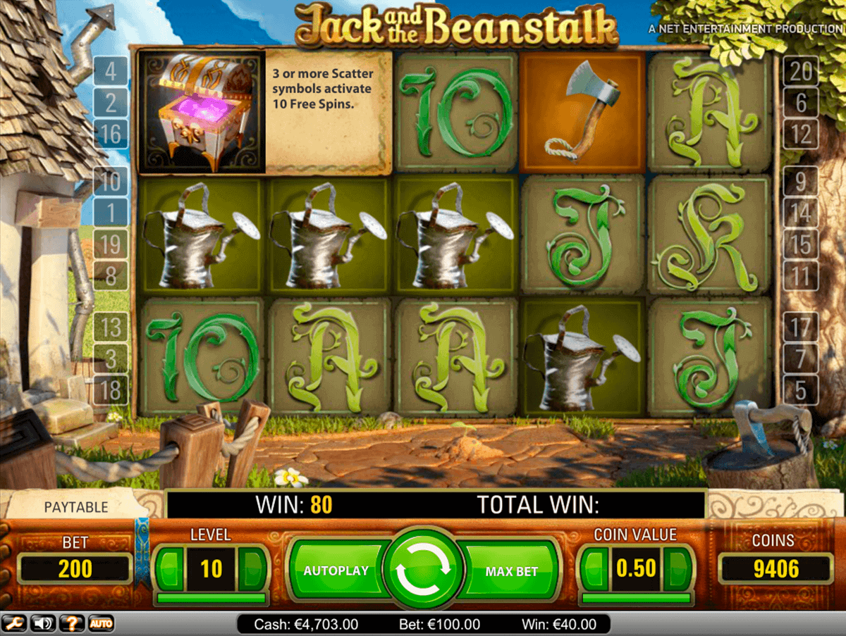 jack and the beanstalk netent kolikkopelit