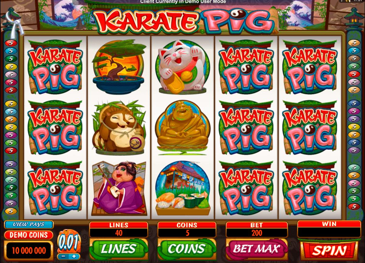 karate pig microgaming kolikkopelit
