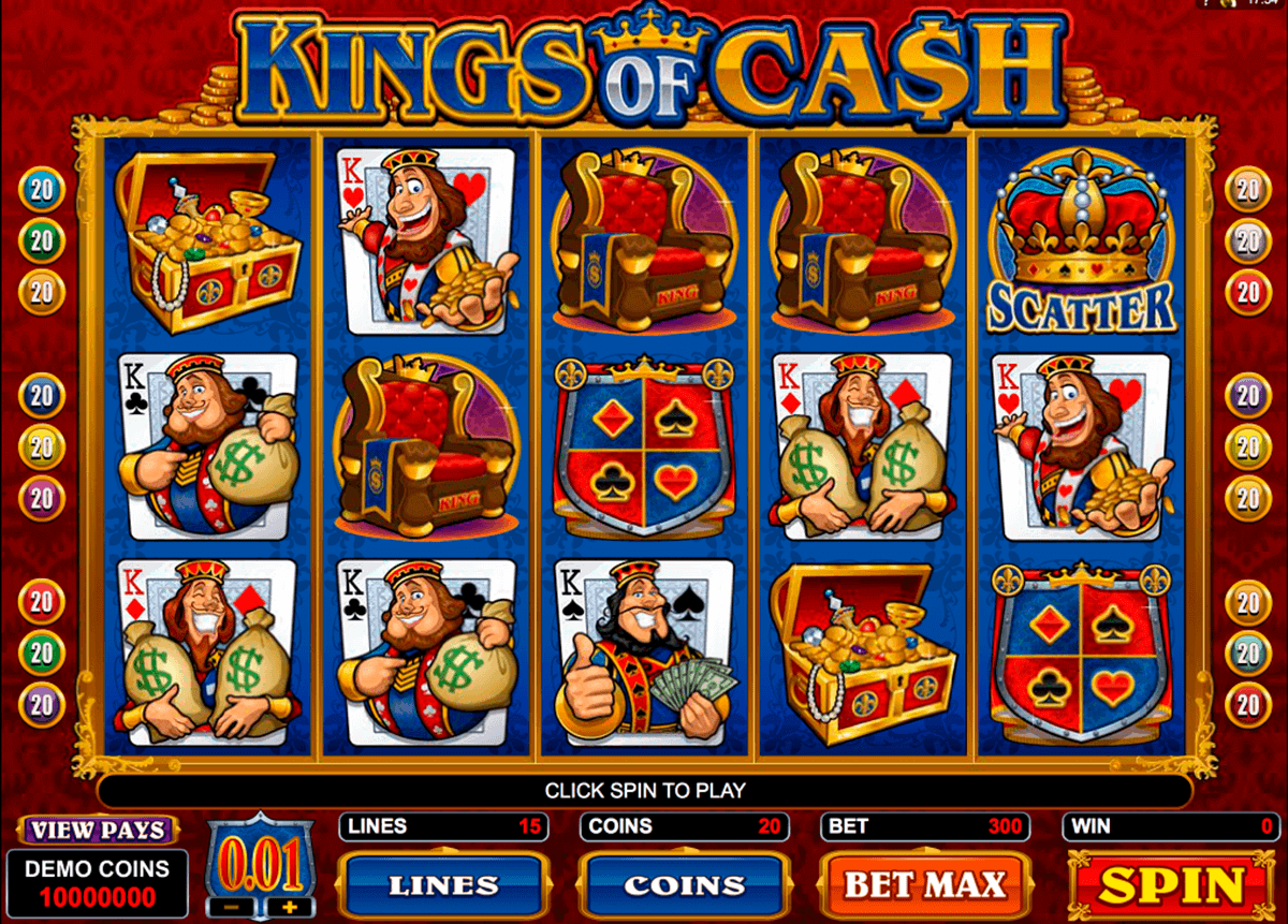 kings of cash microgaming kolikkopelit