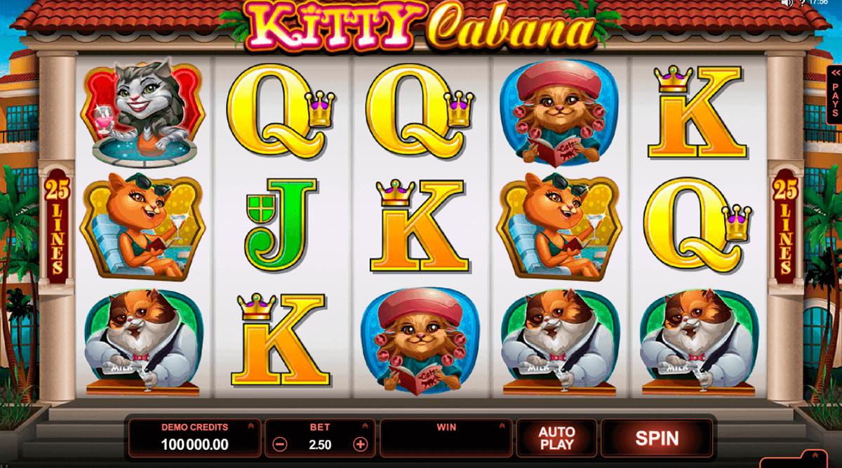 kitty cabana microgaming kolikkopelit