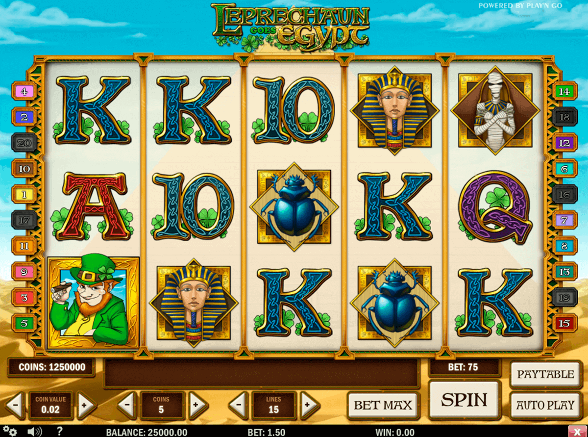 leprechaun goes egypt playn go kolikkopelit