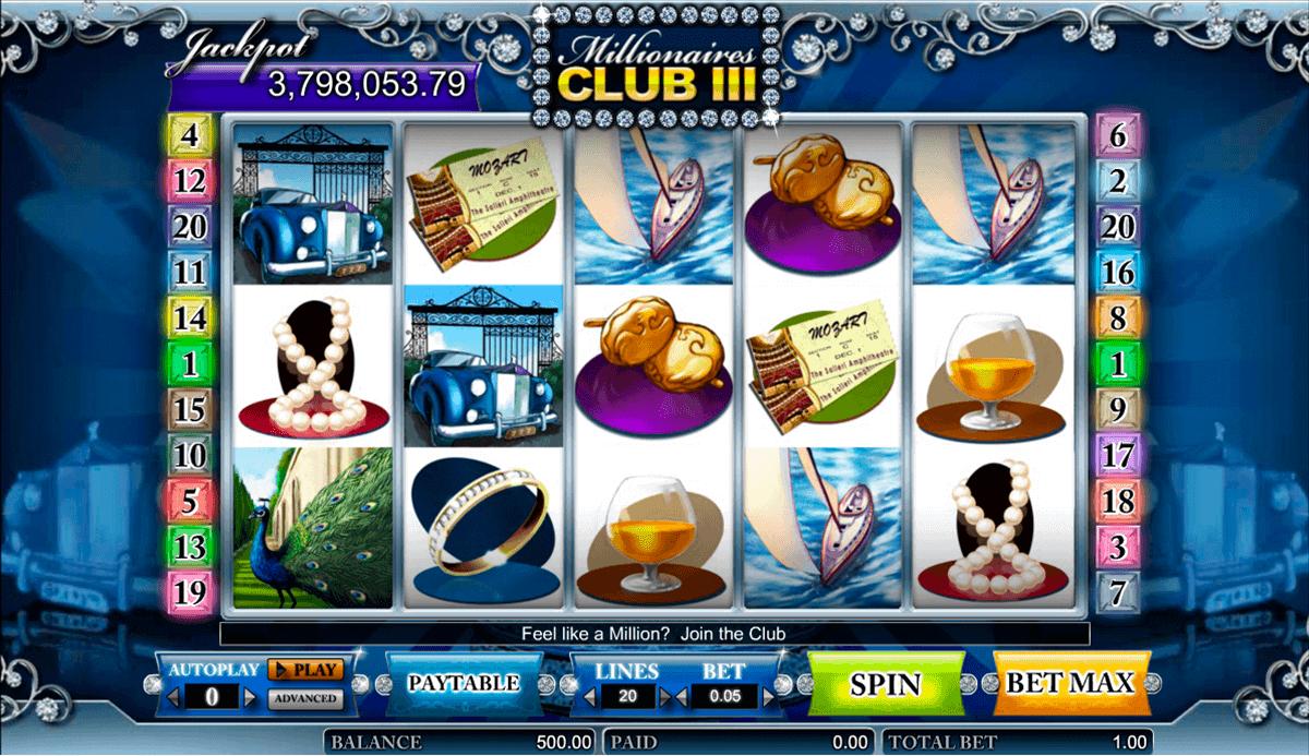 millionaires club iii amaya kolikkopelit
