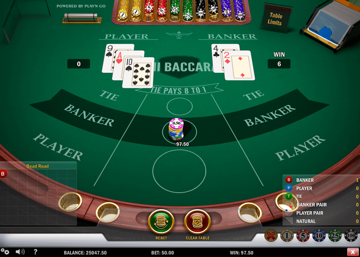 mini baccarat playn go