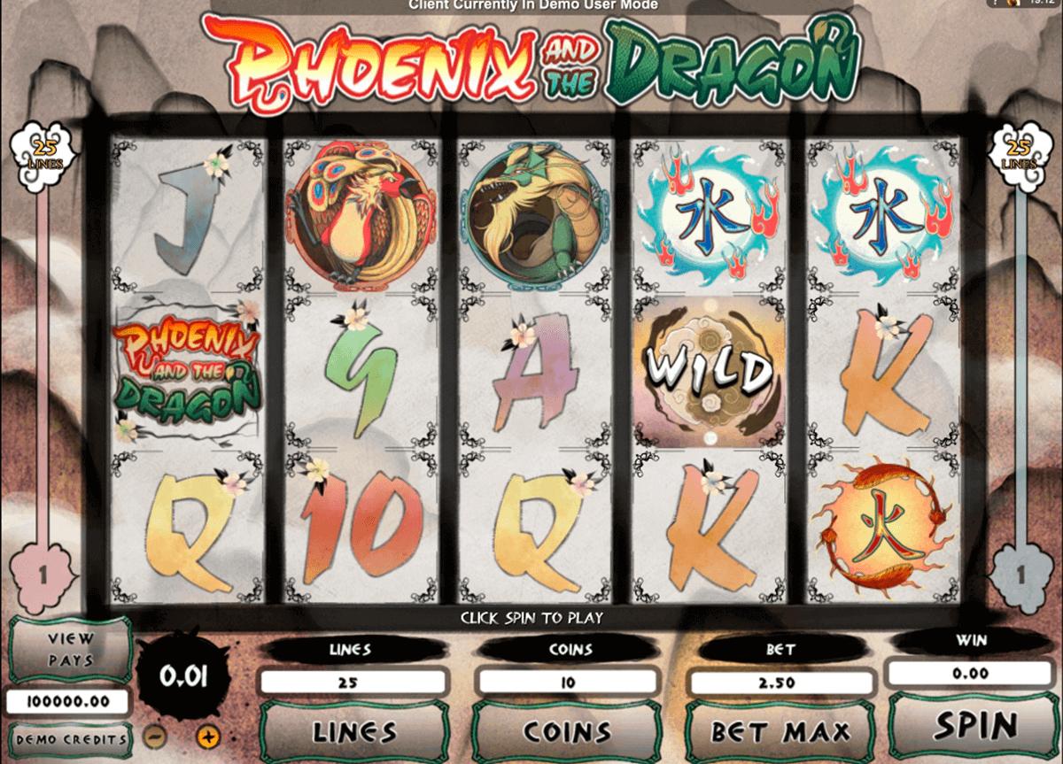 phoeni and the dragon microgaming kolikkopelit