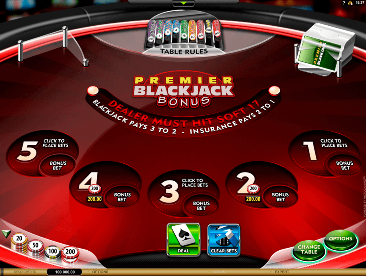 premier blackjack multihand euro bonus gold microgaming blackjack