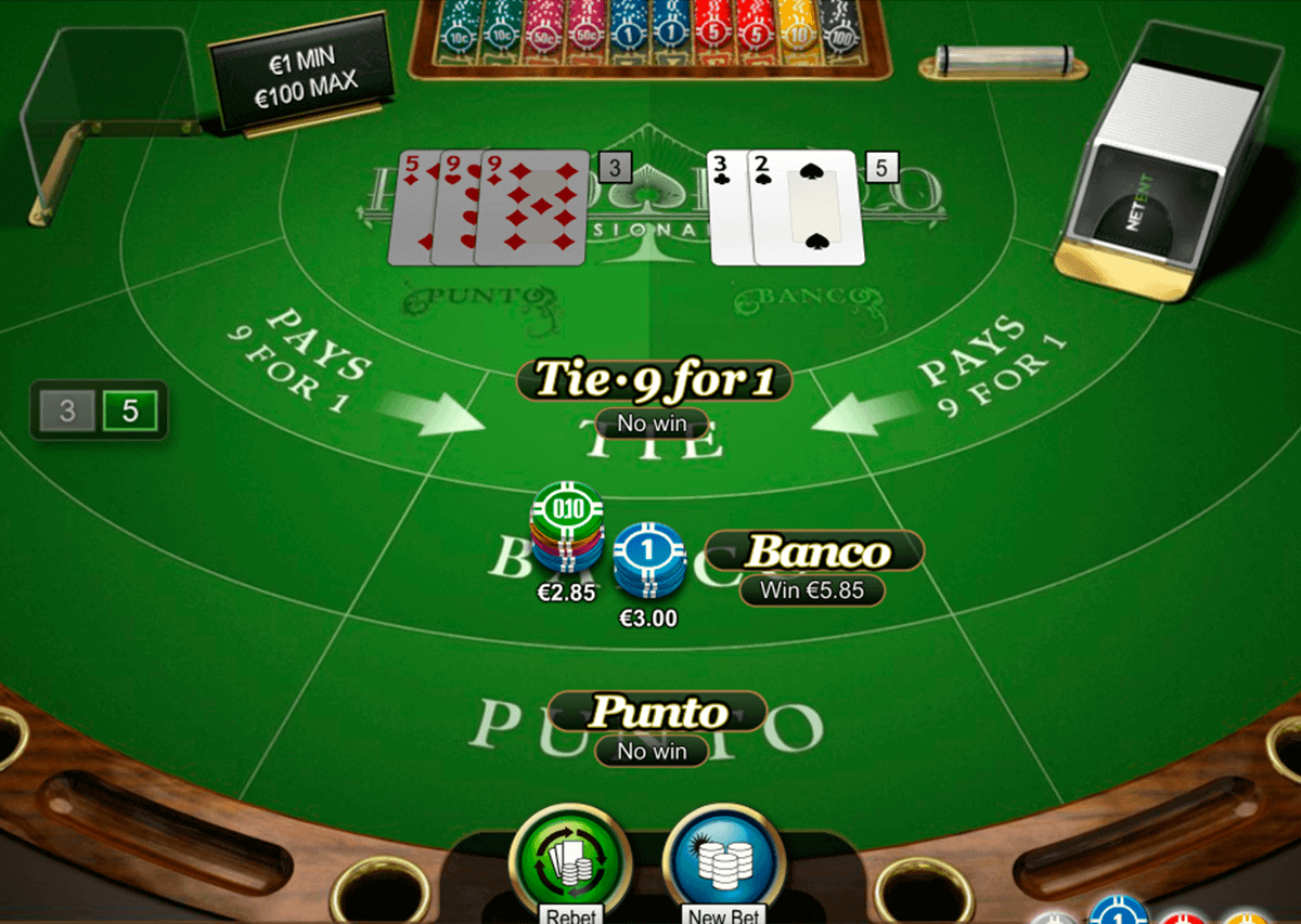 punto banco pro series netent blackjack