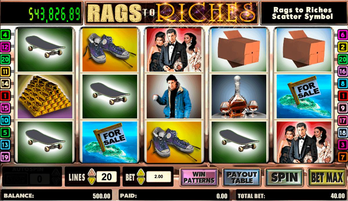 rags to riches amaya kolikkopelit